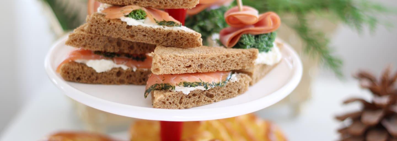 Glutenfri sandwich med laks