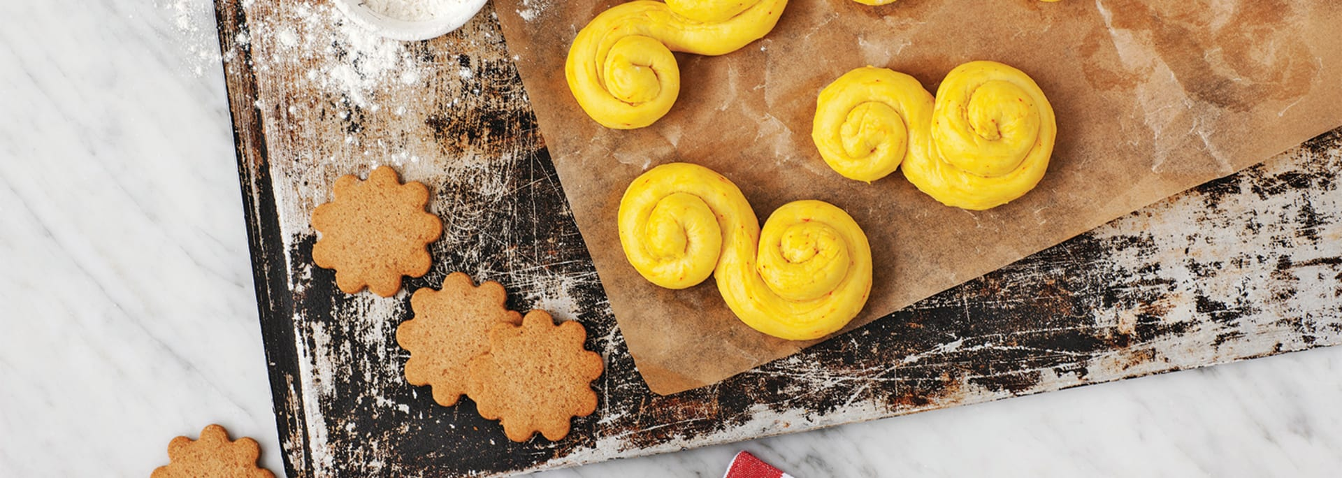 Glutenfri julbakning, pepparkakor och lussekatter