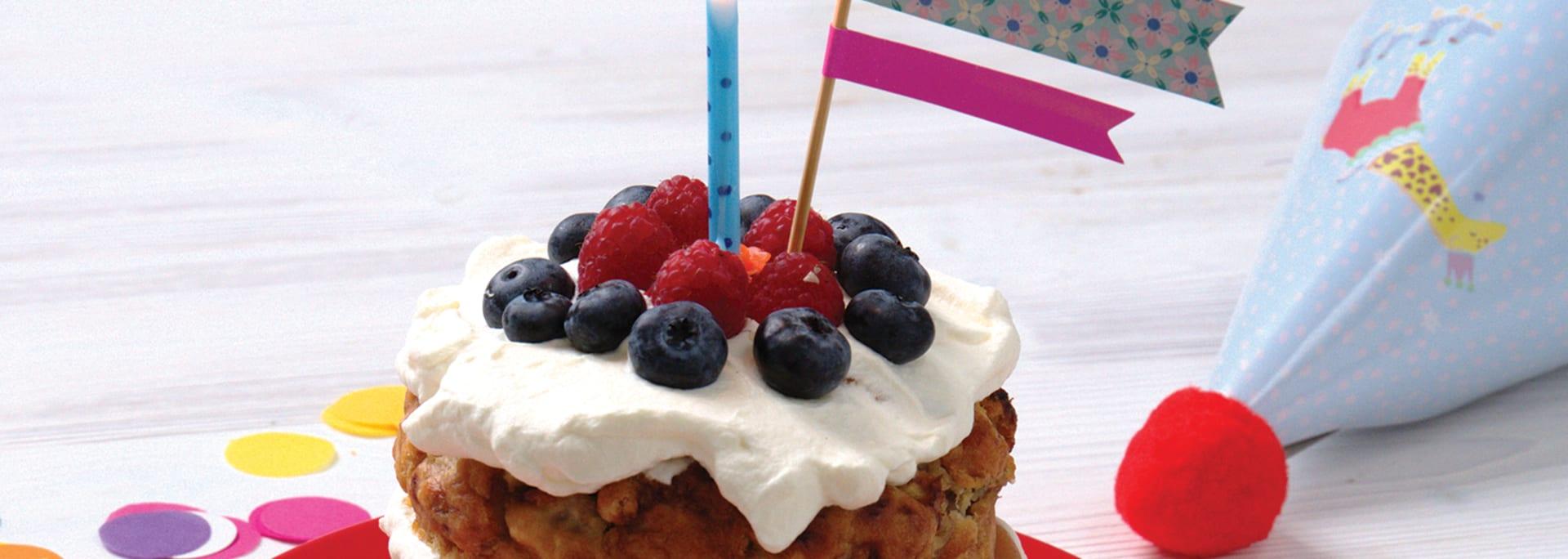 Receptfilm Osockrad tårta - Semper Barnmat