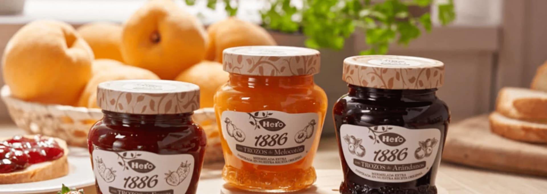 Reutilizar tarros de mermelada 1886 de Hero
