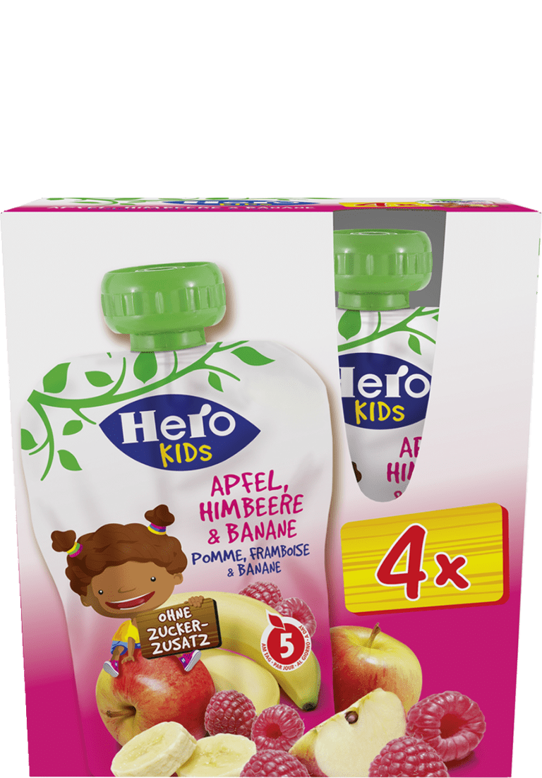 Hero Kids Apfel Himbeere Banane