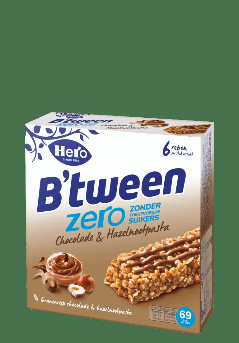 B'tween Zero Chocolade en Hazelnootpasta