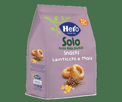 Snacks Lenticchie e Mais Biologici