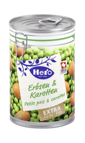 Erbsen und Karotten extra fein | Hero