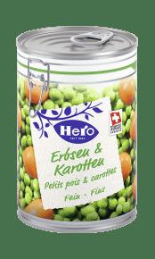 Erbsen und Karotten fein | Hero
