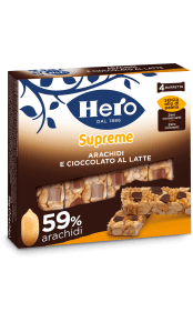 barrette-ai-cereali-supreme-hero-arachidi e cioccolato al latte