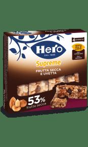 barrette-ai-cereali-supreme-hero-frutta-secca e uvetta
