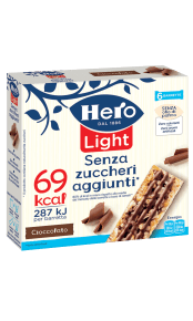 barrette ai cereali light hero cioccolato