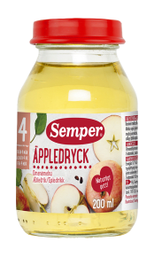 Äppledryck från Semper Barnmat