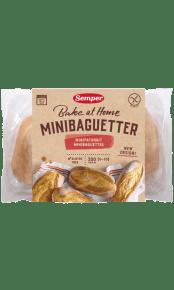 Semper Minibaguetter, glutenfritt bröd som gräddas hemma