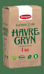 Semper EKO Havregryn, glutenfria havregryn