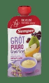 Ätklar gröt med päron & mango från Semper Barnmat