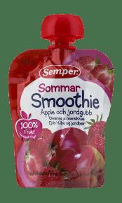 Smoothie Sommar äpple & banan från Semper Barnmat