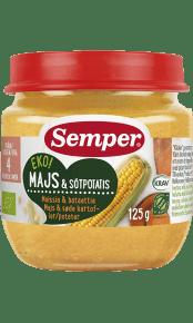 EKO Majs & sötpotatis från Semper Barnmat