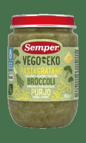 Pastagratäng med broccoli & purjo från Semper Barnmat