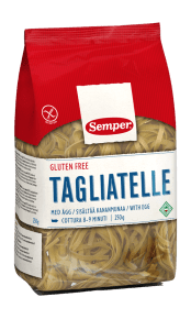 Pasta Tagiatelle, glutenfri och ekologisk pasta
