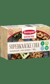 Semper Superknäcke Chia, glutenfritt knäcke utan tillsatt socker