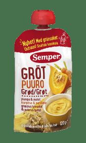 Ätklar gröt med pumpa & morot från Semper Barnmat