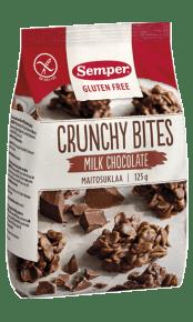 Crunchy Bites Milk Chocolate, glutenfria kex från Semper