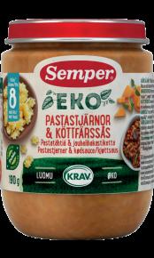 EKO Pastastjerner & kødsauce - Økologisk middagsret fra Semper Børnemad
