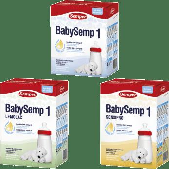 BabySemp 1, modersmjölksersättning från Semper