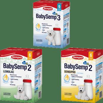 BabySemp 2 och BabySemp 3, tillskottsnäring från Semper