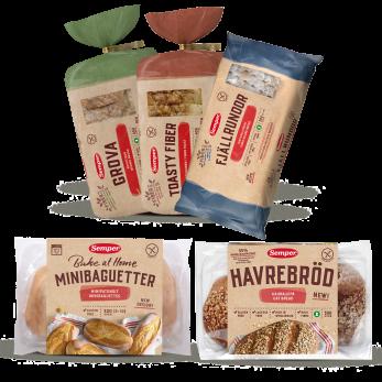 Mykt og glutenfritt brød fra Semper