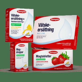 Produkter för mage och hälsa från Semper