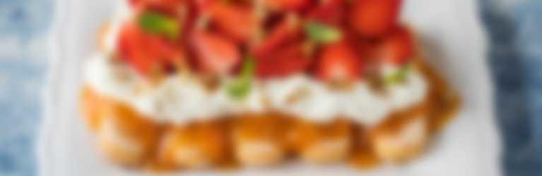 Aprikosen Schicht Dessert