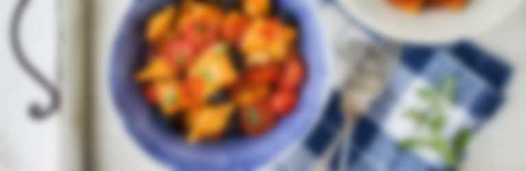Ravioli Hot Summer Rezept aufgetischt