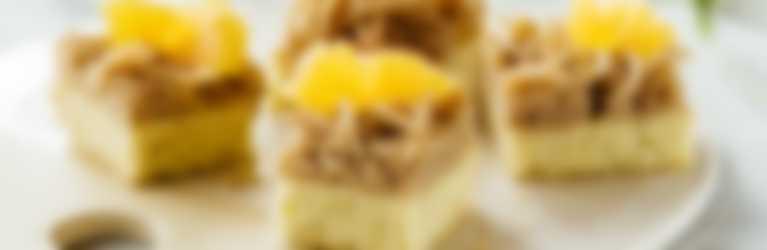 Orangen-Kardamom-Würfel mit Vermicelles