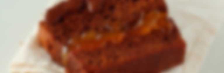 Tarta de chocolate con confitura de albaricoque