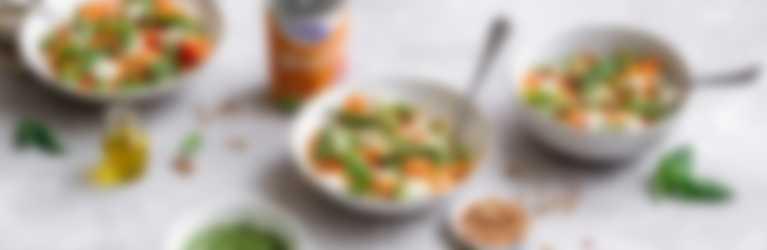 Hero Rezepte | Ravioli mit Spargeln, Mozzarella und Pesto-Sauce
