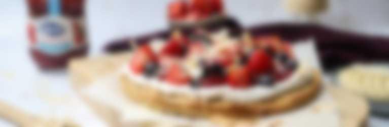 Ontbijtpizza rood fruit