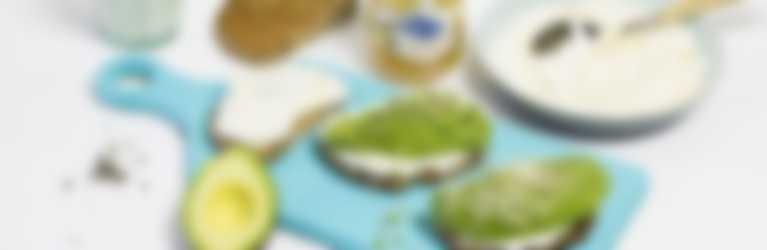 toast gemberjam avocado - gerecht
