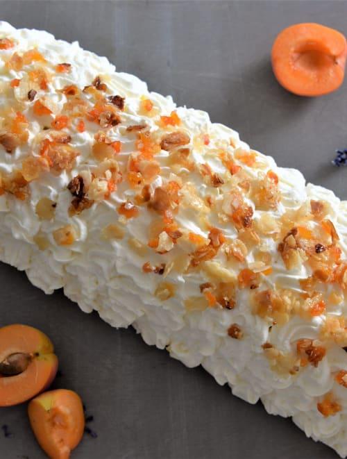 Cake glacé mangue-abricot