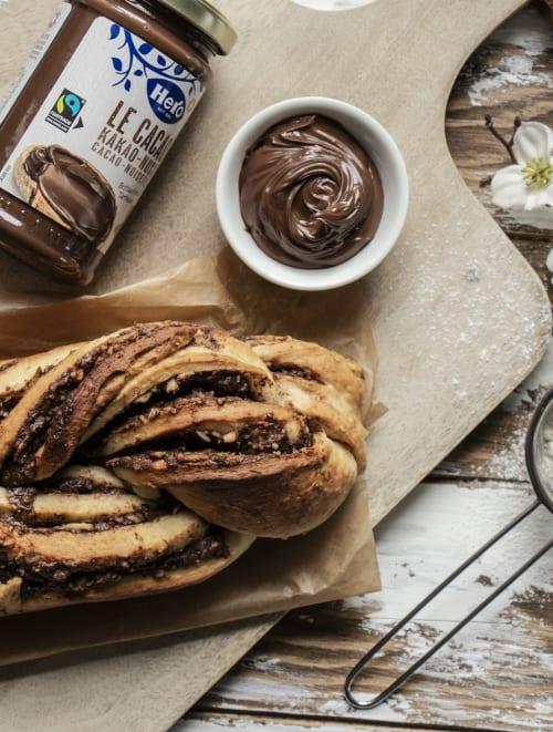 Le Cacao Russenzopf aufgetischt