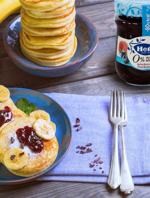 Pancakes de avena con plátano