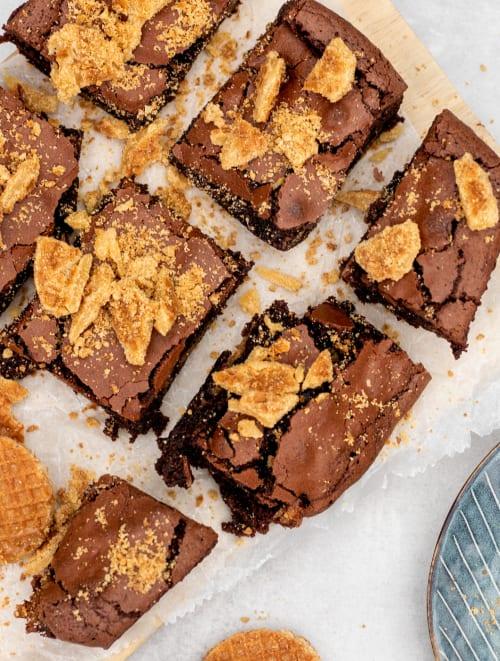Hero Tova caramel stroopwafel brownie