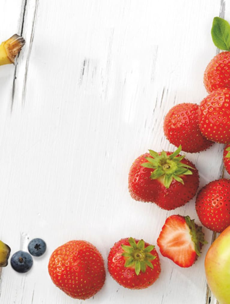 Recept - Banan, jordgubb, äpple & blåbär - Semper Barnmat