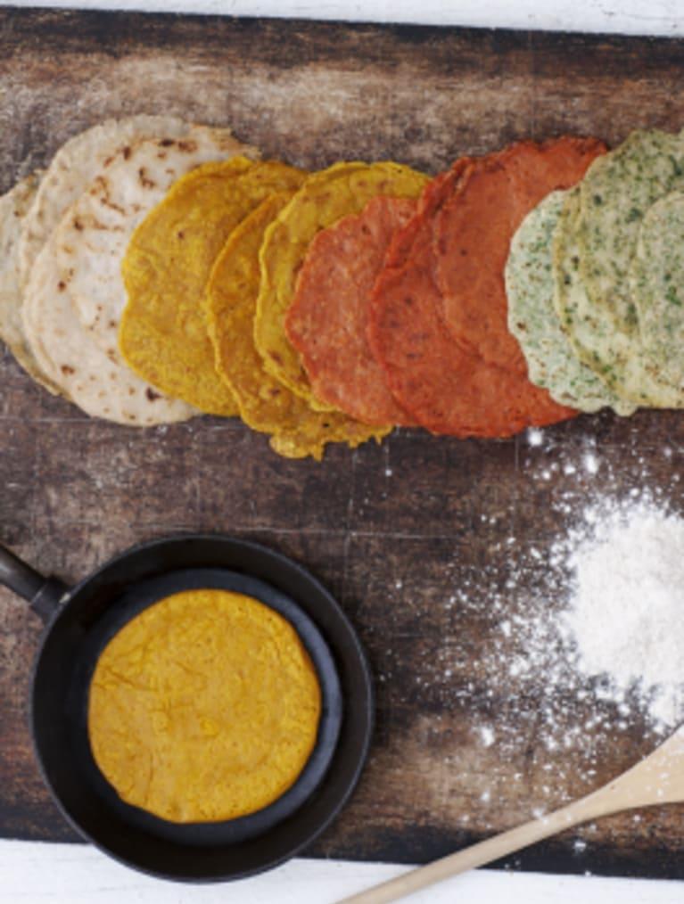 Glutenfria bovete och teff-tortillas