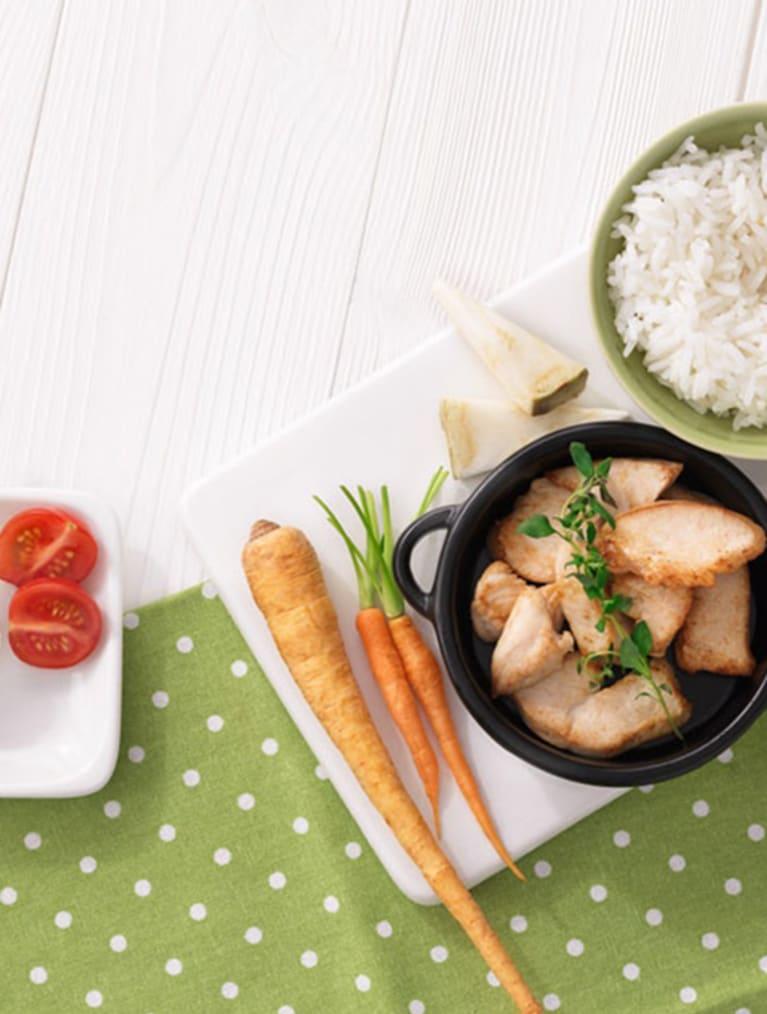 Recept - Grönsaksgryta med ris - Semper Barnmat