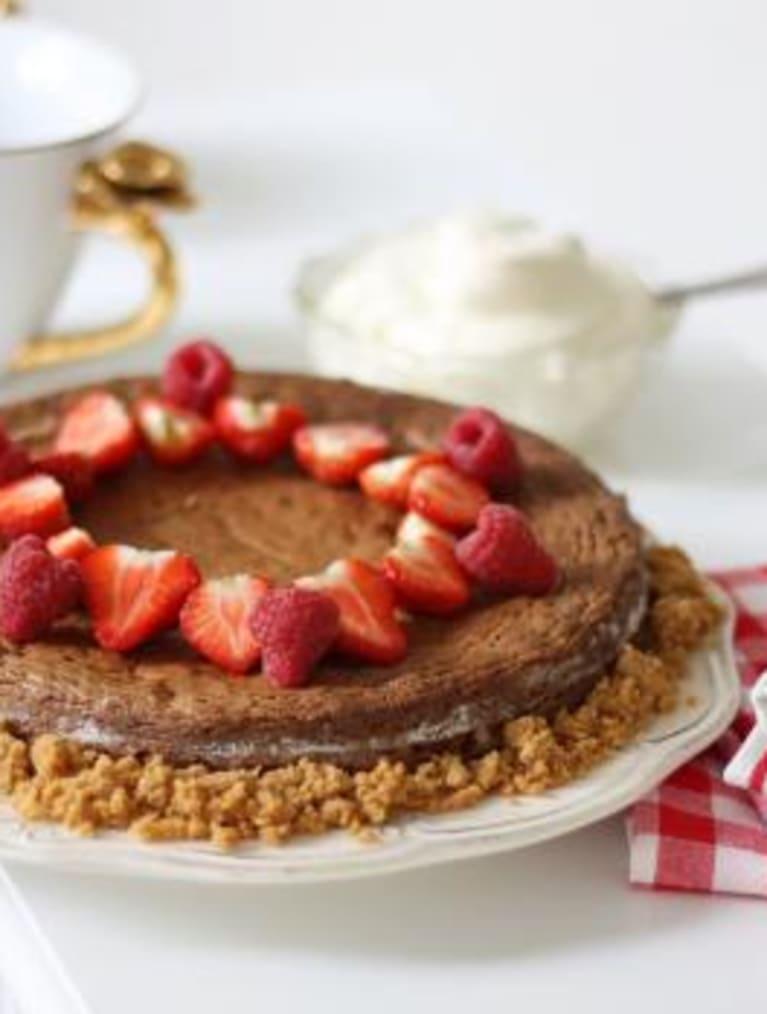 Glutenfri sjokoladekake med nøtter