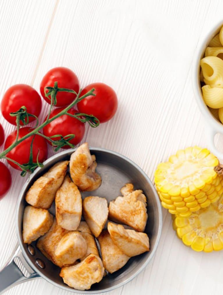 Recept - Pasta med kyckling & grönsaker - Semper Barnmat