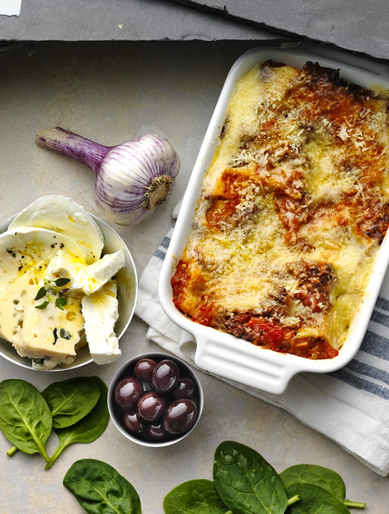 Glutenfri vegetarisk lasagne