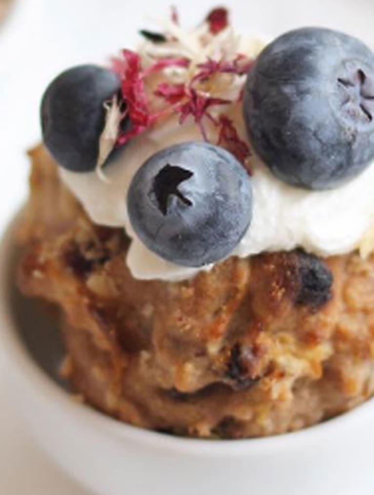 Glutenfria frukostmuffins med blåbärstopping