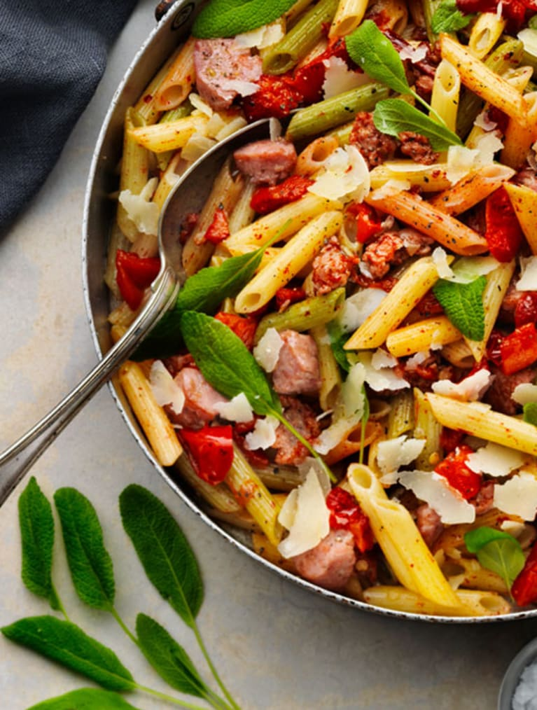 Glutenfri pastasallad med Sempers Penne Tricolore