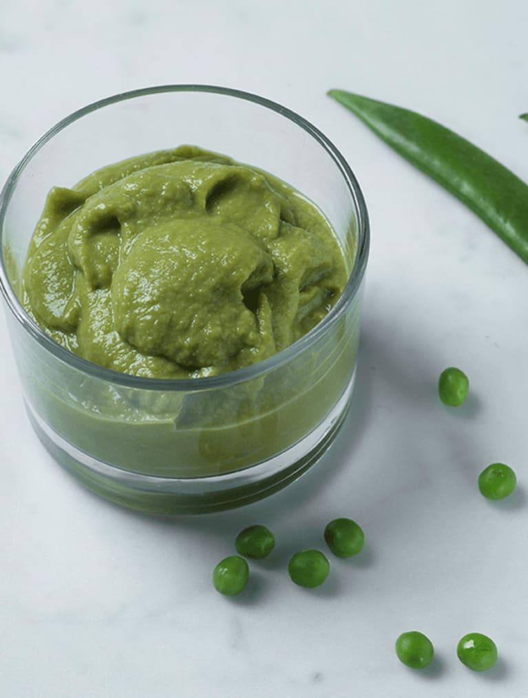 Puré med gröna ärtor