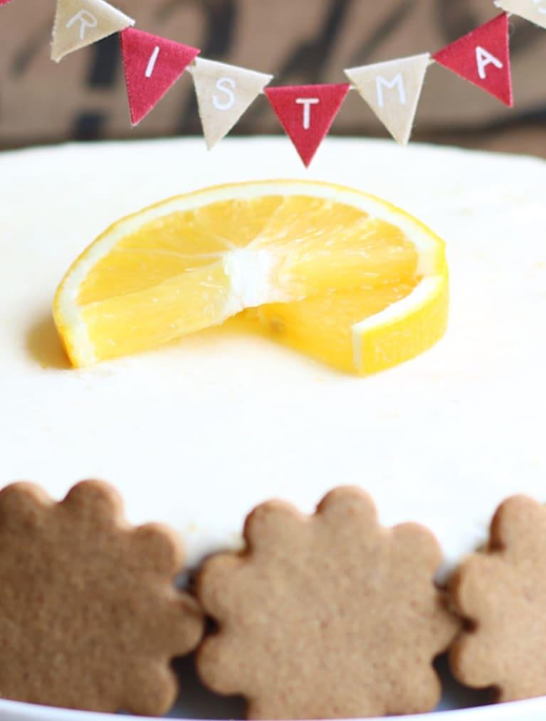 Glutenfri pepparkakscheesecake med apelsintopping