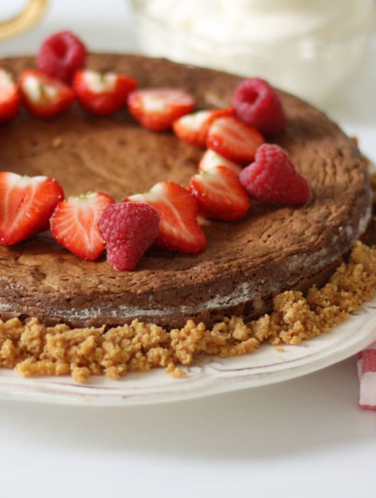 Glutenfri chokoladekage med nødder